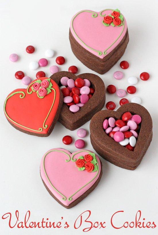Valentine S Heart Cookie Boxes Glorious Treats
