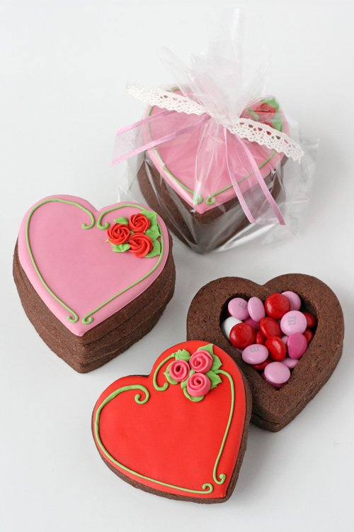 valentine's heart cookie boxes – glorious treats, Ideas