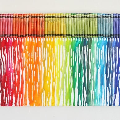 how to make melted rainbow crayon art glorious treats