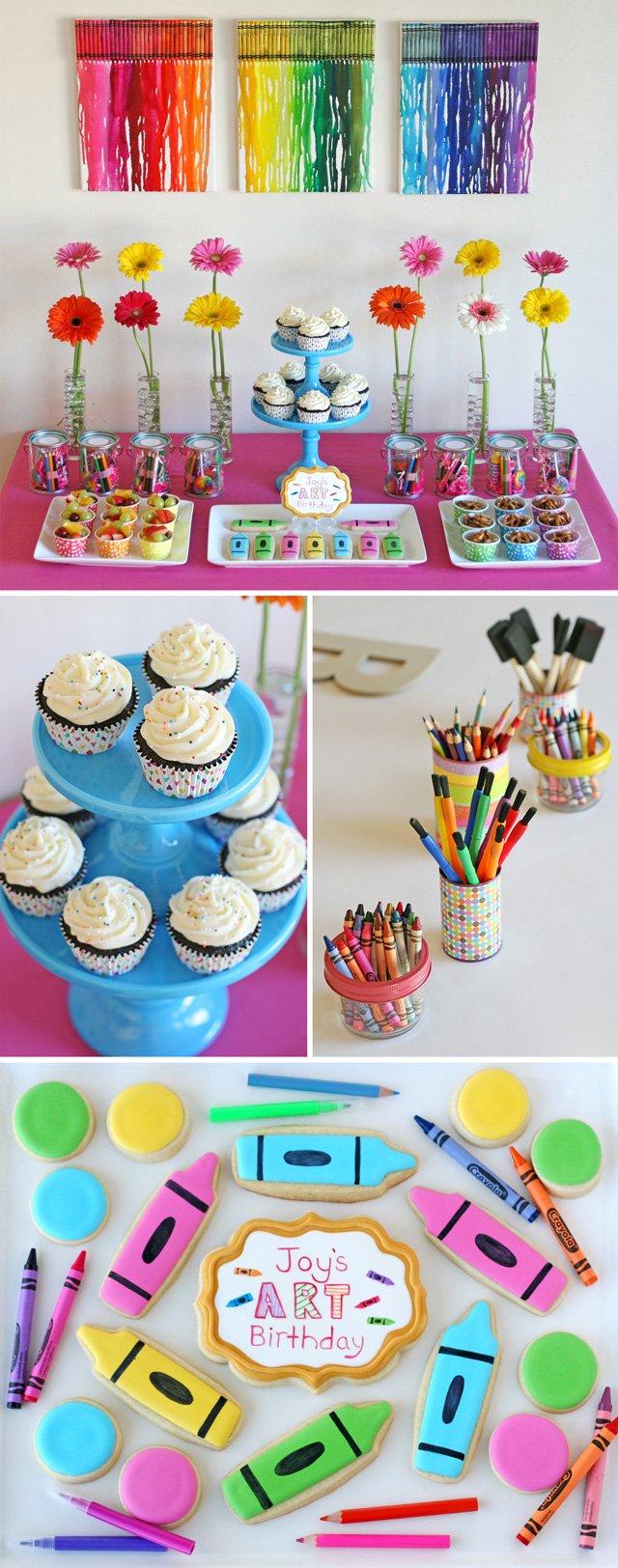 Terrific Rainbow Art Birthday Party Glorious Treats Personalised Birthday Cards Paralily Jamesorg