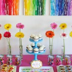 Rainbow Art Birthday Party- by Glorious Treats