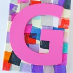 Personalized Mosaic Craft for Kids - by Glorious Treats
