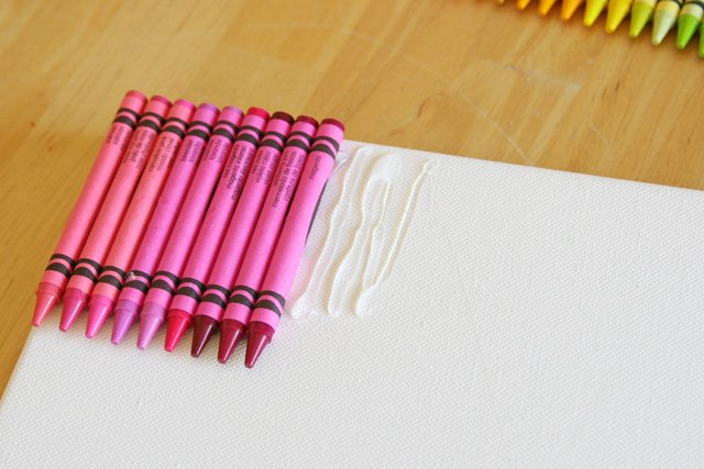 diy ideas rainbow melted crayon art