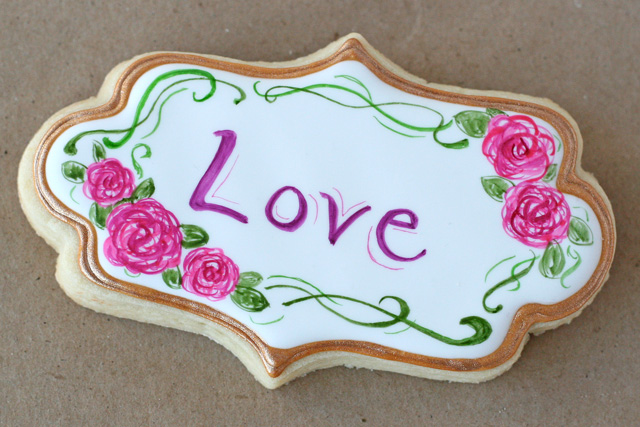 Handpainted Valentine's Cookies - Glorious Treats
