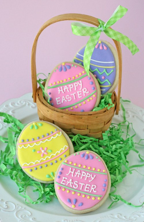 Cute and Easy Decorated Easter Cookies