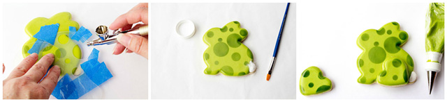 Decorating Easter Cookies with an airbrush