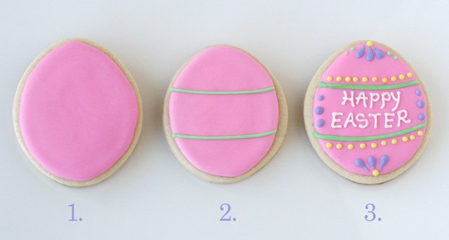 How to decorate Easter egg cookies