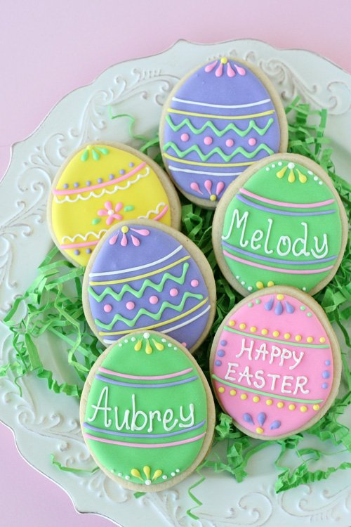 Easter Egg Decorated Cookies