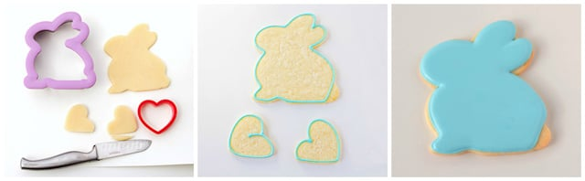 How to make 3D bunny cookies