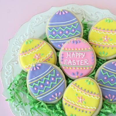 Pretty Easter Egg Cookies