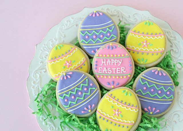 Cute And Easy Decorated Easter Egg Cookies Glorious Treats