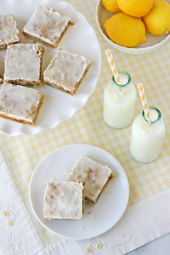 Lemon Coconut Bars - by Glorious Treats