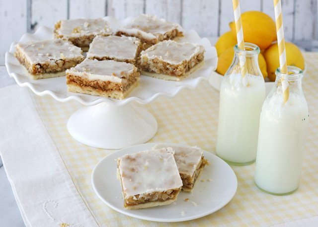 Lemon Coconut Bars - by Glorious Treats