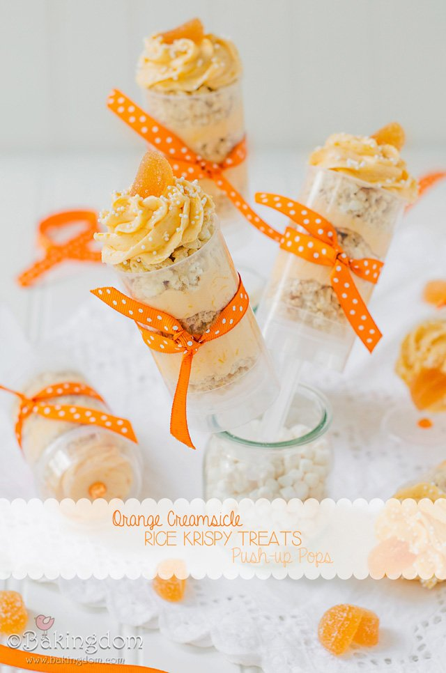 Orange Creamsicle Rice Krispy Treats by ©Bakingdom {Guest post on Glorious Treats}