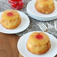 Pineapple Upside-down Cupcakes - by Glorious Treats