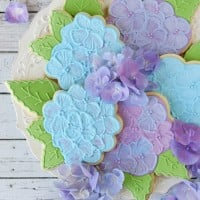 Hydrangea Cookies - by Glorious Treats