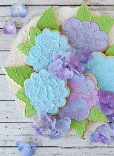 Hydrangea Cookies - by Glorious Treats