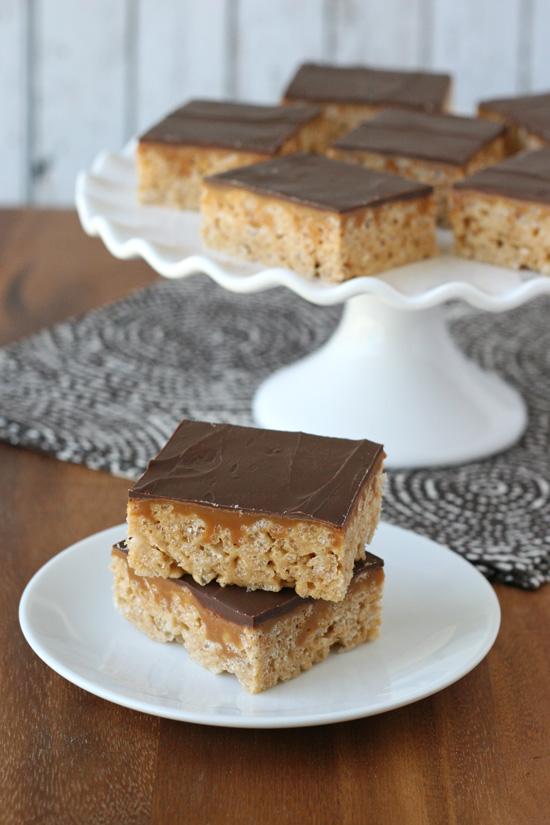 Whatchamacallit Krispie Treats - by Glorious Treats