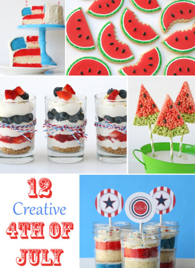 12 Creative 4th of July Desserts - by glorioustreats.com