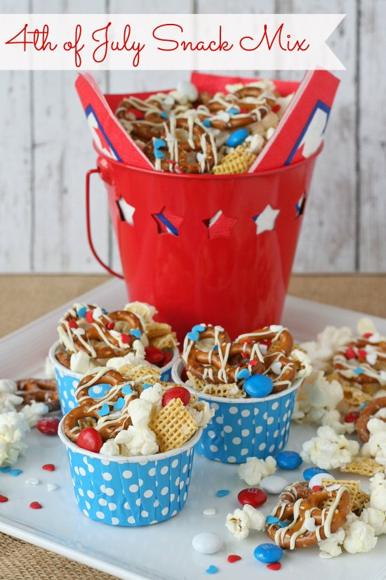 4th Of July Snack Mix By Glorioustreats