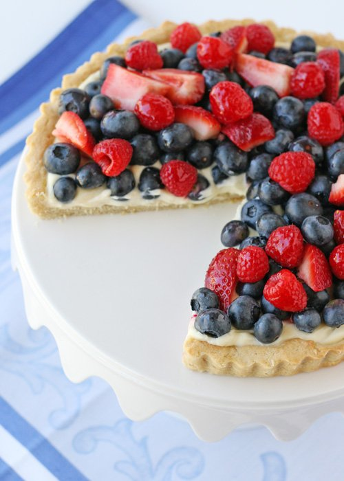 Summer Berry Tart - glorioustreats.com