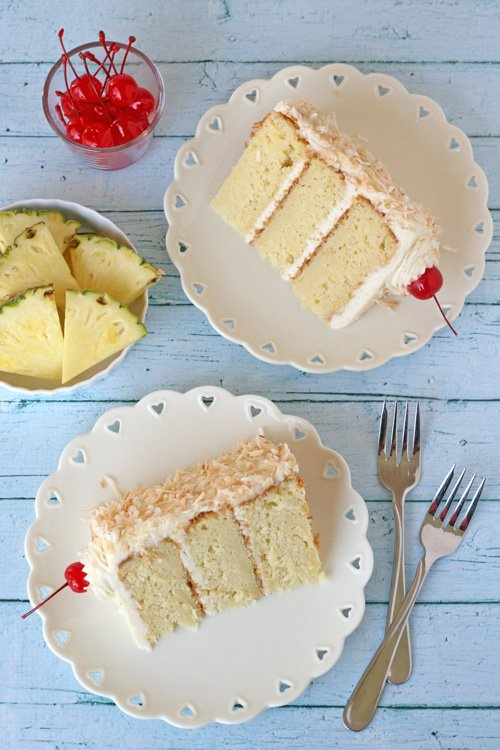 Pina Colada Cake - by glorioustreats.com