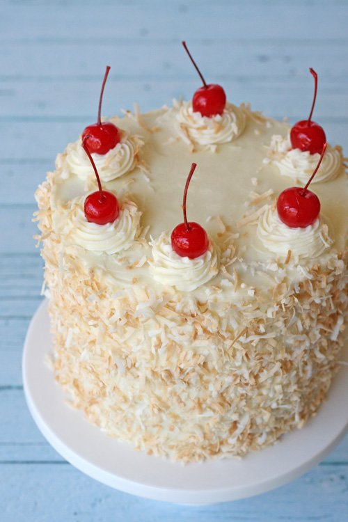 Pina Colda Cake - by glorioustreats.com