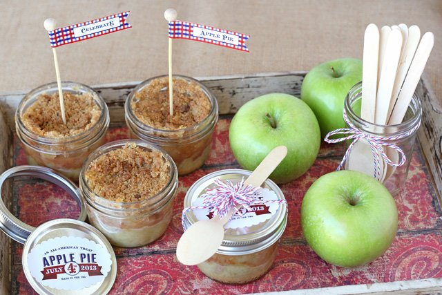 Apple Pie in a Jar - by Glorious Treats