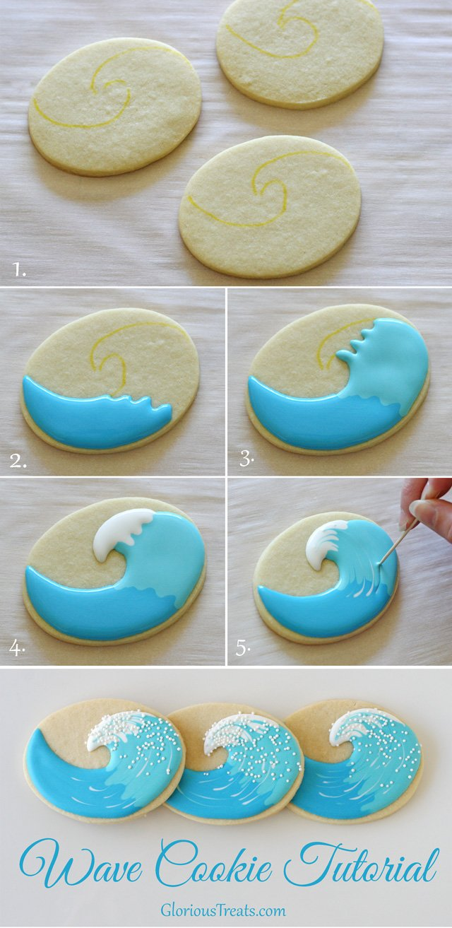 Wave Cookies Tutorial - by Glorious Treats