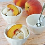 Peach Ice Cream Recipe - glorioustreats.com