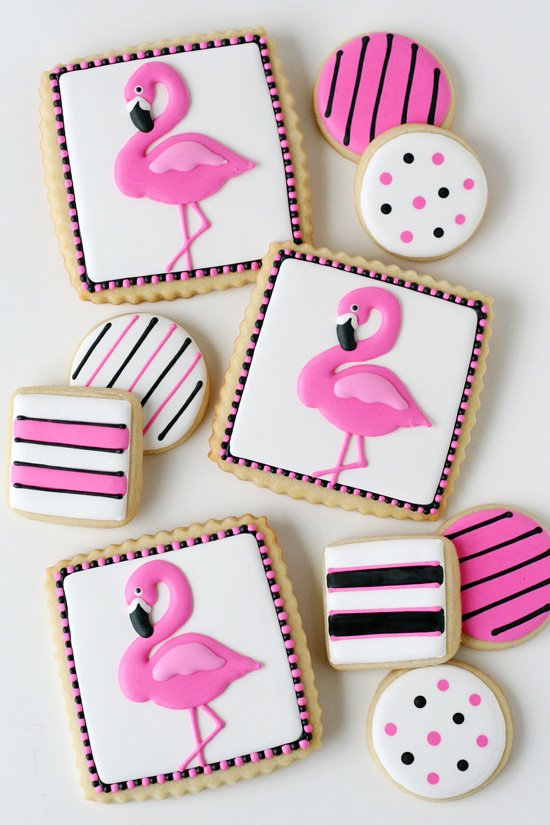 Pink Flamingo Cookies - glorioustreats.com