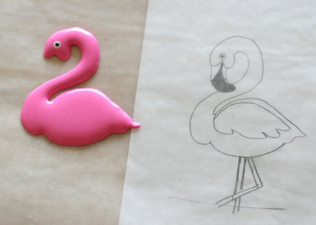 How to make Flamingo Cookies - glorioustreats.com