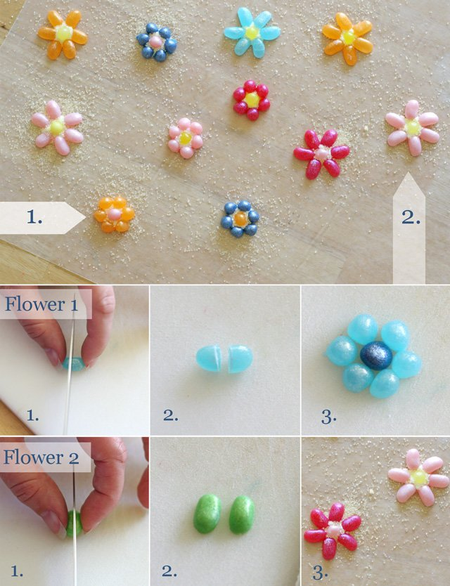 How to make Jelly Belly Flowers - by Glorious Treats