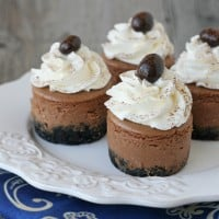 Mini Kahlua Cheesecake Recipe - by Glorious Treats
