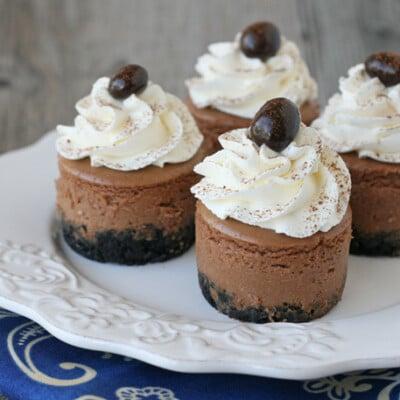 Mini Kahlua Cheesecake Recipe - by Glorious Treats