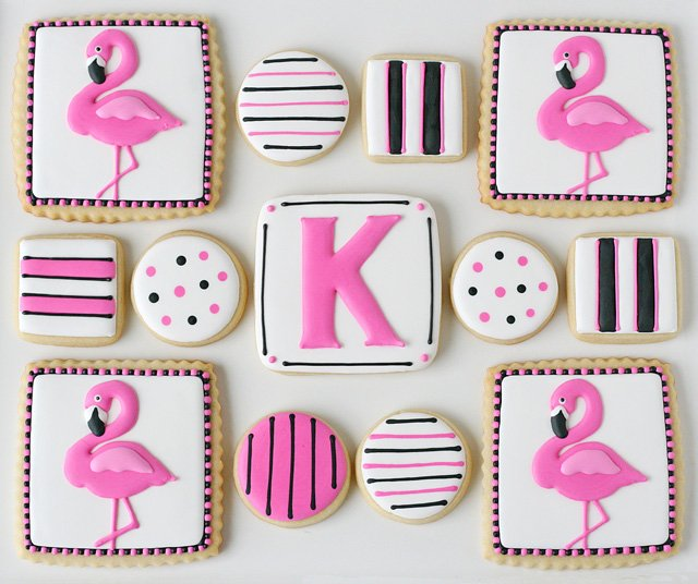 Pink Flamingo Cookies - glorioustreats.com