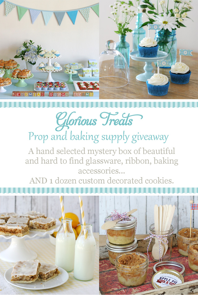 Prop and baking supply giveaway - from Glorious Treats
