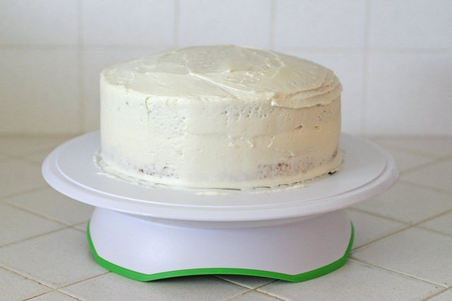 Crumb Coated Cake (and how to make a blended color cake) - by Glorious Treats