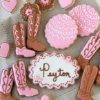Cowgirl Party Cookies - glorioustreats.com