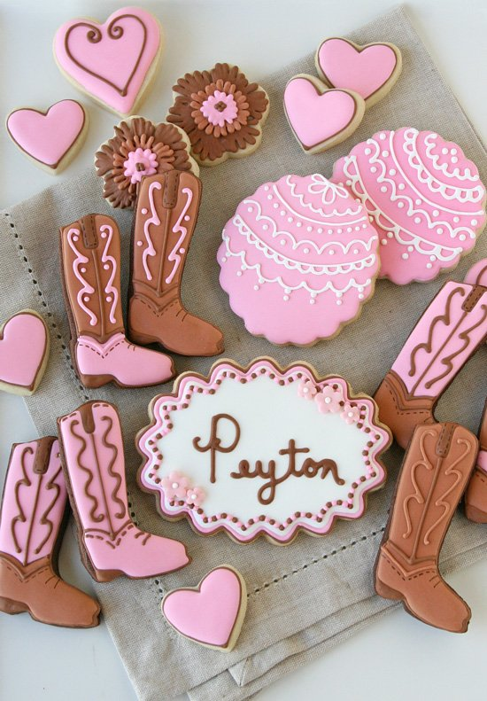 cowgirl boot cookies � glorious treats