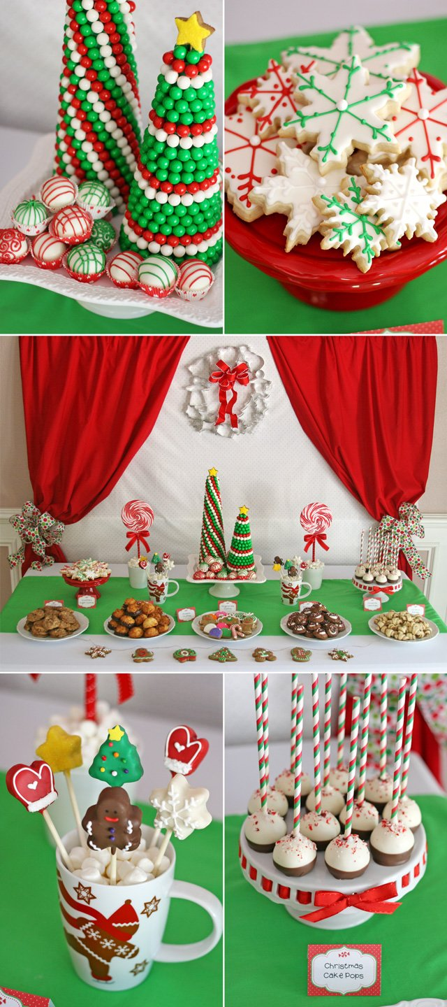 Christmas Cookie Exchange Party - So many pretty treats, recipes and ideas!!  -  glorioustreats.com