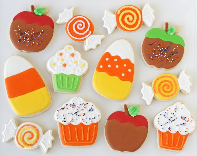Cute Halloween Cookies - by glorioustreats.com