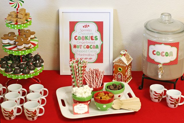 Hot Cocoa Bar (lots of cute ideas!) - glorioustreats.com
