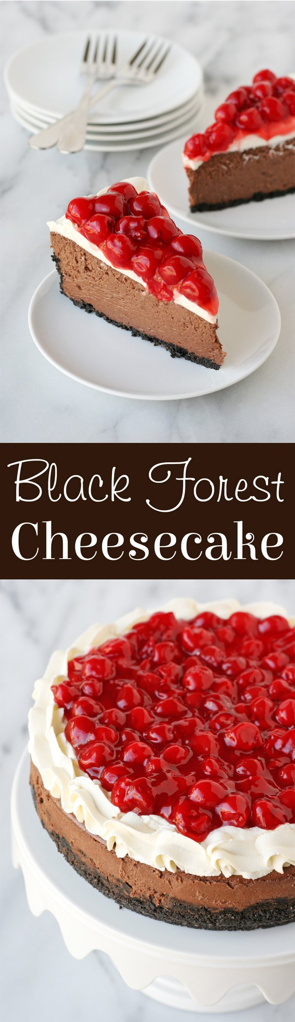 Incredibly impressive and delicious Black Forest Cheesecake!