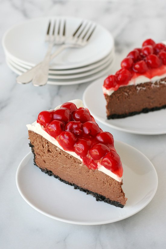 Black Forest Cheesecake - by glorioustreats.com