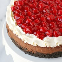 Gorgeous Black Forrest Cheesecake!! from glorioustreats.com