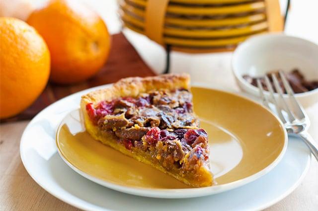 Cranberry Pecan Tart - glorioustreats.com