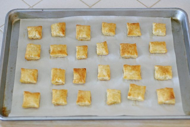Puff Pastry Bites (for Turkey Pesto Appetizer) - glorioustreats.com