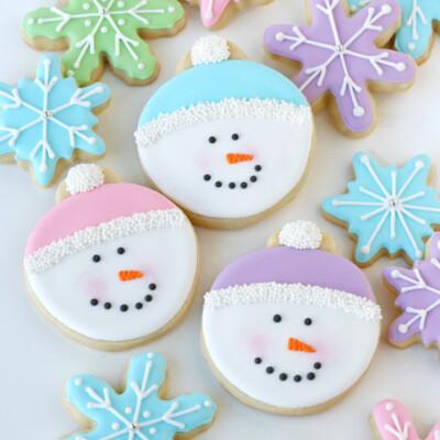 Pastel Snowman Cookies - glorioustreats.com