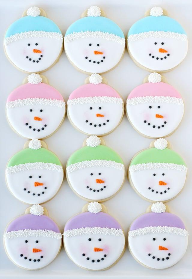 Snowman Face Cookies - glorioustreats.com